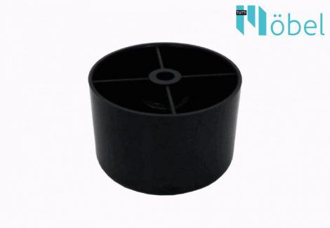 25 mm-es műanyag láb - fekete