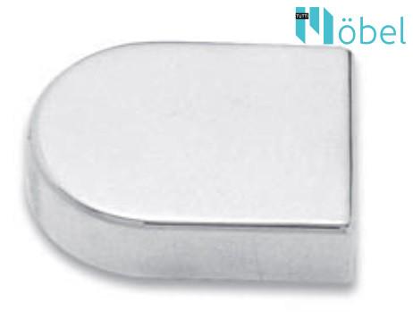 "FGV QS Mini üvegajtópánthoz ""D"" alakú takaró kupak - matt króm"