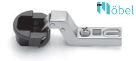 FGV QS Mini üvegajtópánt 105° talp nélkül - közézáródó