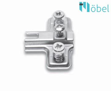 FGV QS Mini üvegajtópánthoz talp, Euro csavarral (talp H-2)