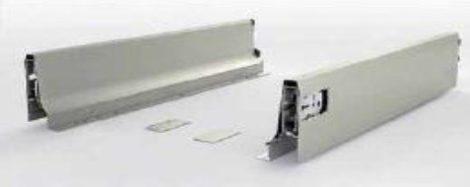 FGV TEN fékes fiókoldal, szürke, 90 x 400 mm