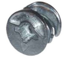 Excenteres bútorösszehúzó fej - 15 mm