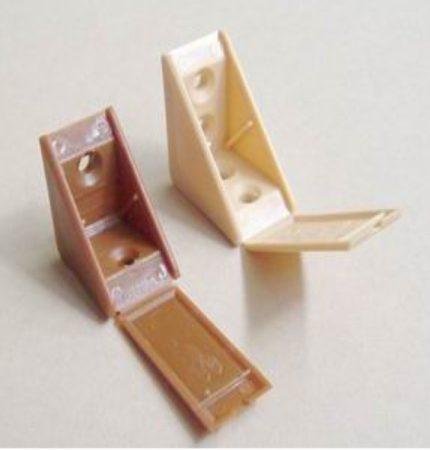 Műanyag polcrögzítő két furatos (E/K2) - calvados