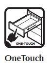 OneTouch (Push-Open kilökős) fióksínek